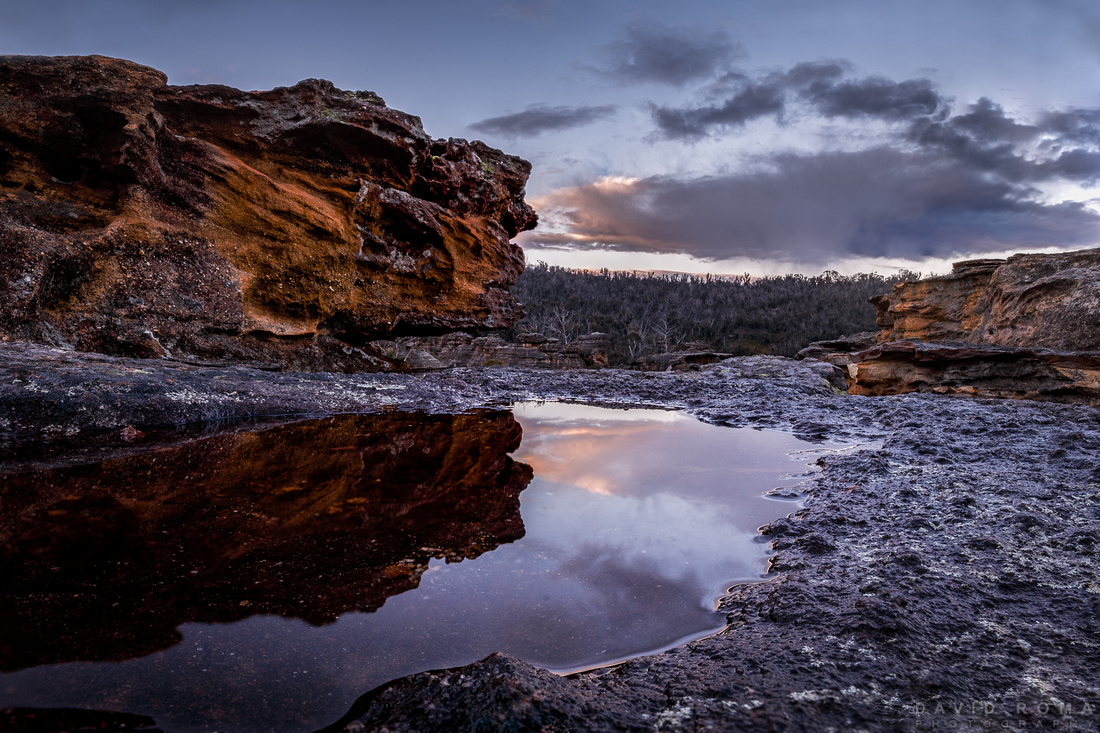 Sunset on Newnes State Forest