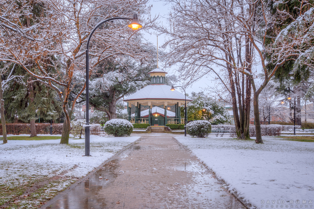 Machattie Park in snow