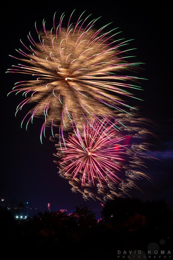 Royal Bathurst Show Fireworks Golden