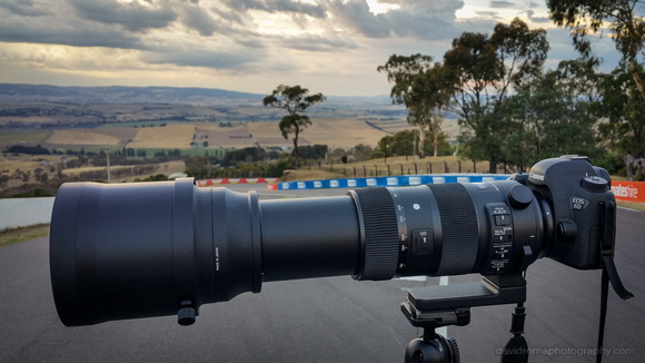 Sigma 150-600mm with Canon 6d on tripod at Mt. Panorama, Bathurst, NSW, Australia