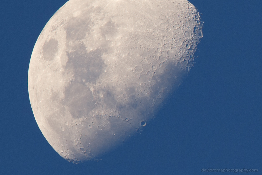 100% crop of the Sigma 150-600mm Moon test shot