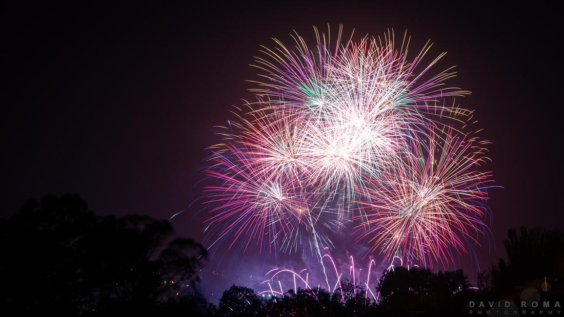 Royal Bathurst Show Fireworks landscape